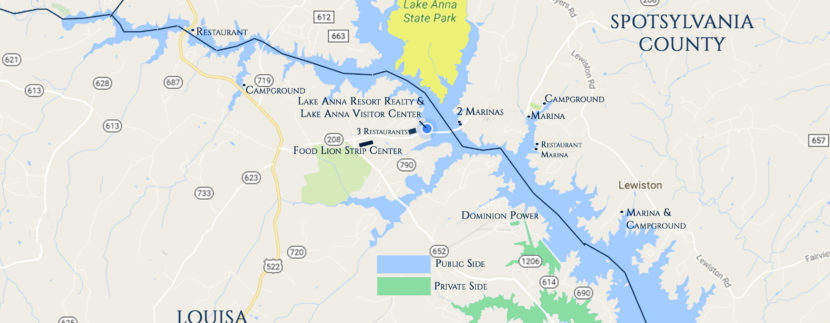 Lake Anna Waterfront Property: The north vs. The south End of Lake Anna